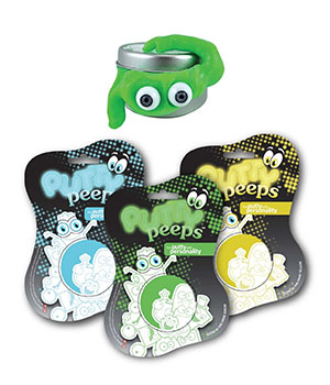 Putty Peeps  leran med personlighet - Glow in the dark