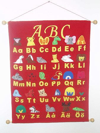 ABC - tygtavla